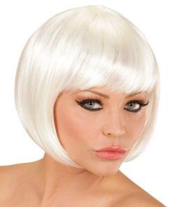 perruque courte blanche