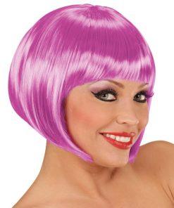 perruque courte violette