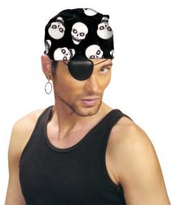 bandana pirate noir