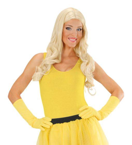 gants jaune fluo