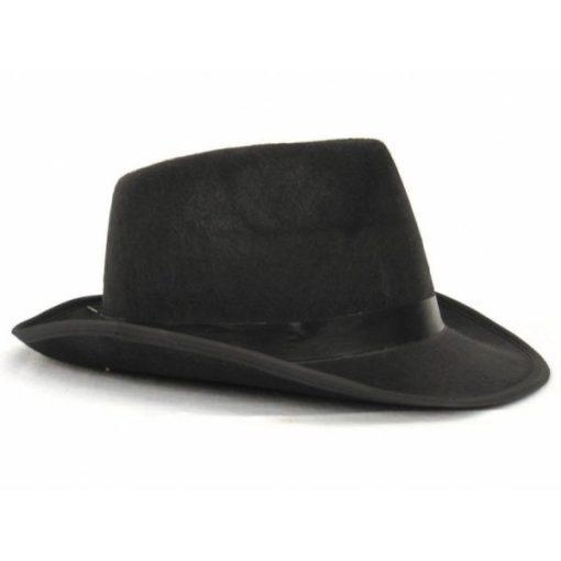 chapeau borsalino noir de luxe