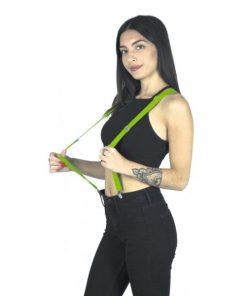 bretelles fluo vert