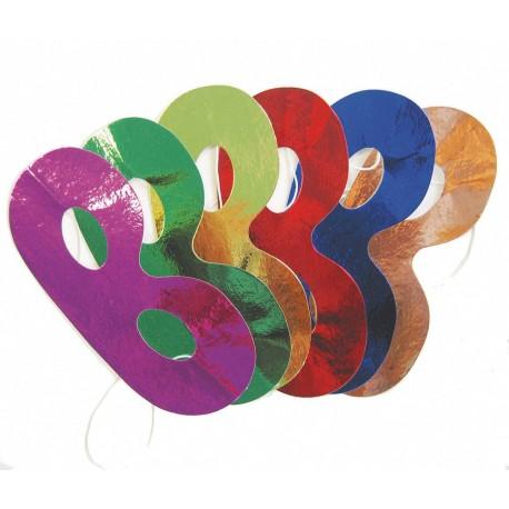 6 masques métallisés