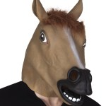 masque cheval latex intégral