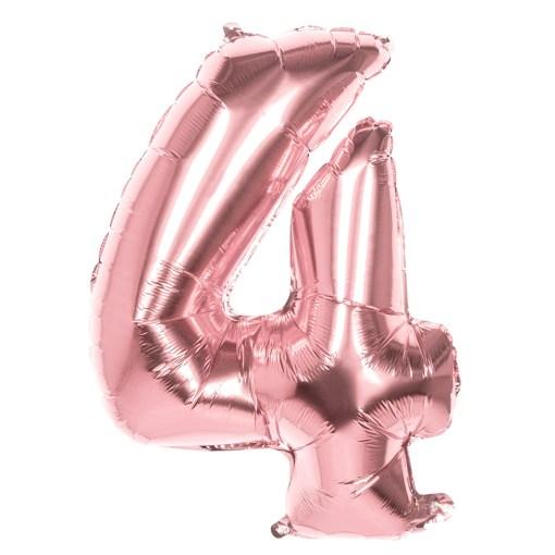 ballon chiffre 4 rose gold