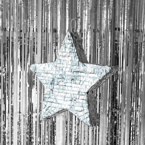 pinata étoile argent