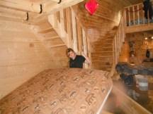 Une des deux cabines du ranch: 8 lits Queen Size susceptibles d'être changés
