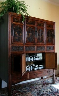 Rolfing oil cabinet - Camelia House - Acupuncture Center of Acadiana