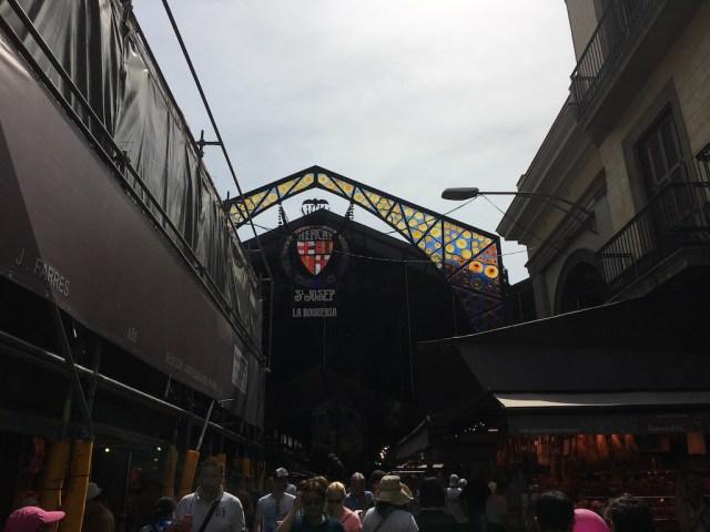La Boqueria entrance on La Rambla