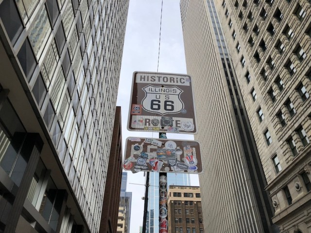Route 66 Sign Chicago