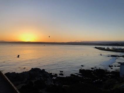 Sunrise from our balcony Monterey Bay Inn