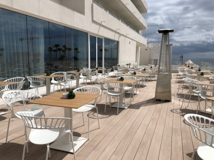Bar terrace from the lobby