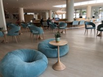 Lovely design of seating in the lobby