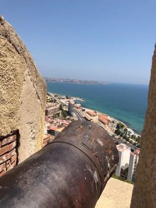 Cannon view Castillo Santa Barbara Alicante