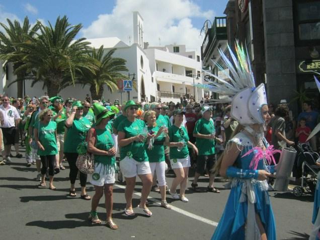 St Patrick's Day Parade Puerto del Carmen