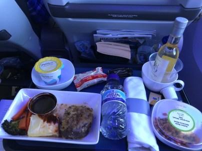 British Airways World Traveller Plus Meal London Orlando Route