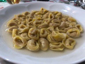 Tortellino with broth