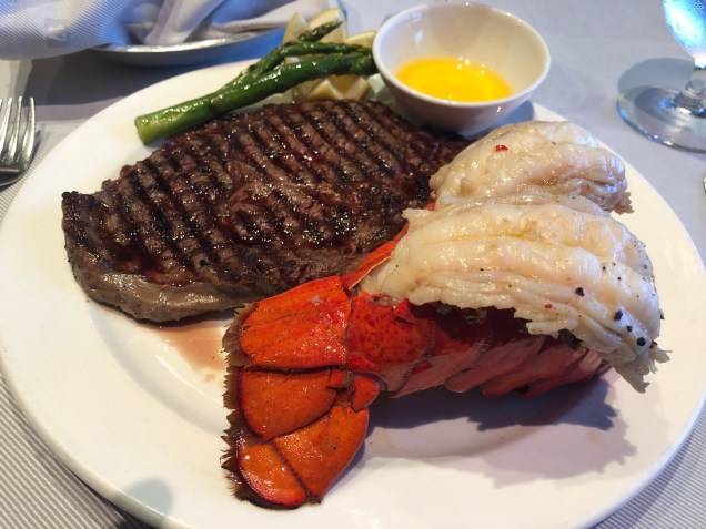 Surf & turf at the Crown Grill