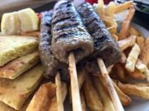 Kebab sticks and pitta at Kali Pitta