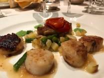Seared diver scallops & crispy belly pork at Da Vinci