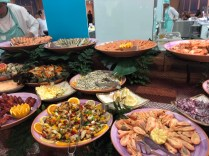 Fabulous seafood platters in the buffet restaurant