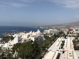 View out to Costa Adeje from our balcony