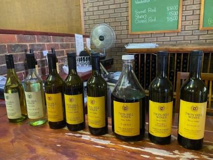 Twin Hill wine tasting