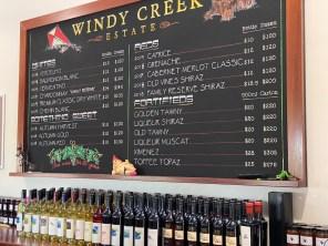 Wine tasting Windy Creek