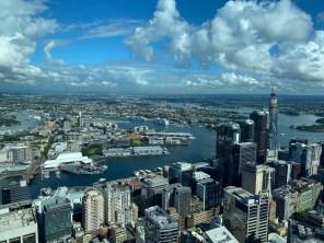 Bird's eye view of Darling Harbour