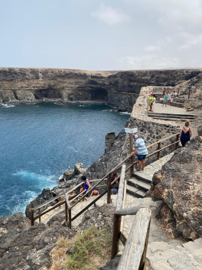 Path down to the cave at Caleta Negra