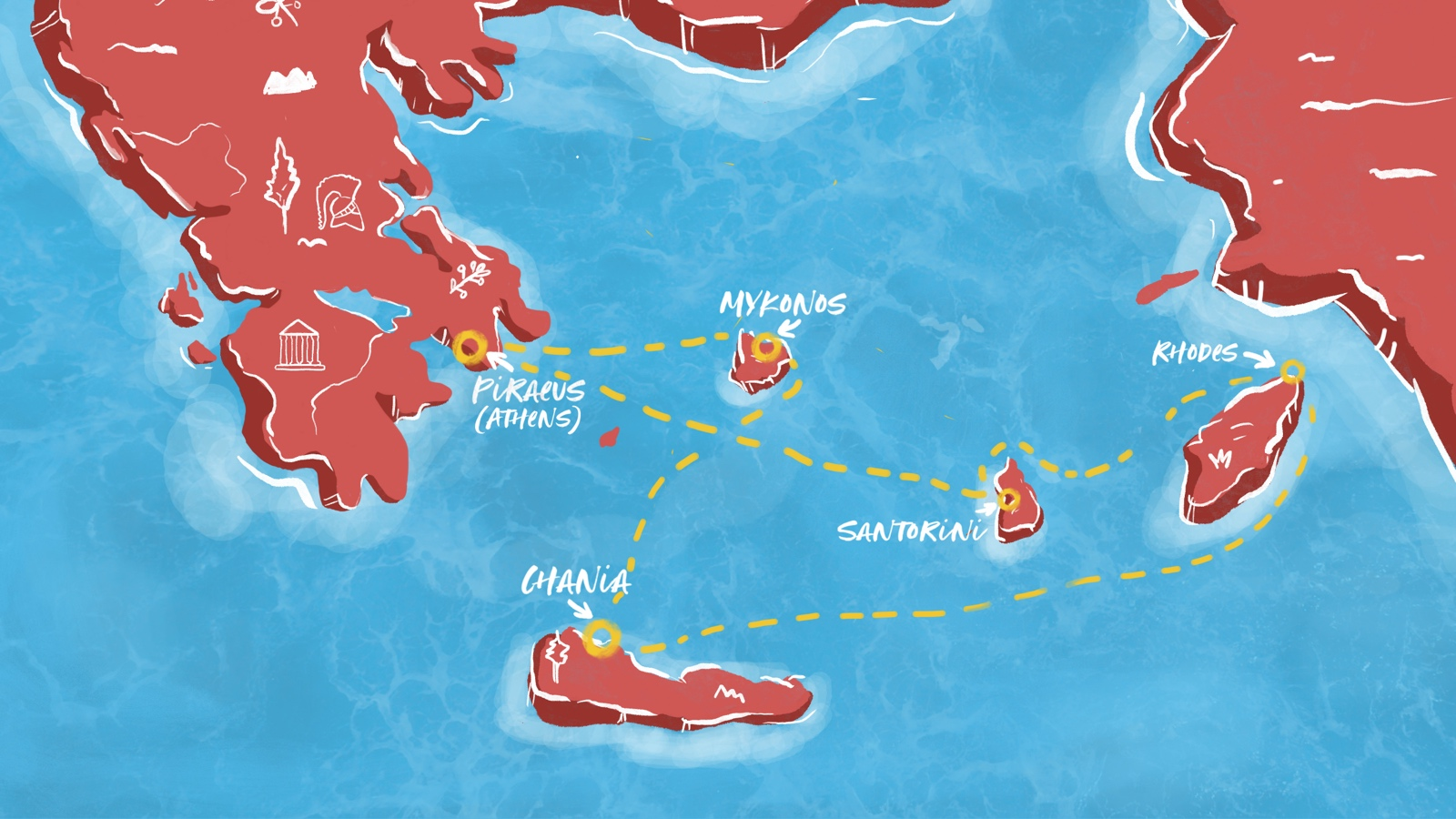 Virgin Voyages Resilient Lady Greek Island Glow Map