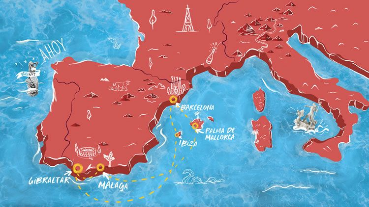Virgin Voyages Valiant Lady Spanish Obsession Map
