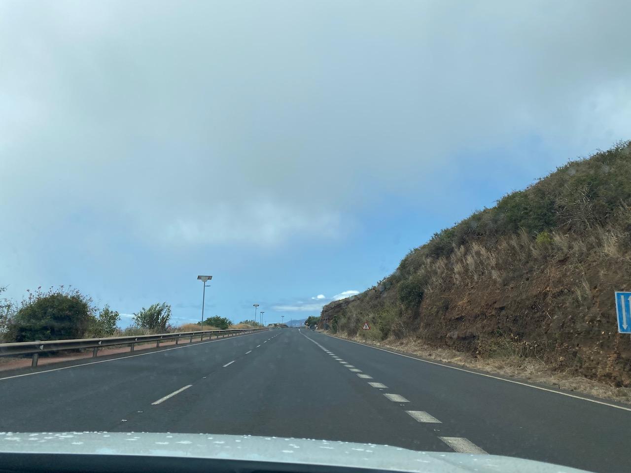 The blue sky line at Santa Lucia
