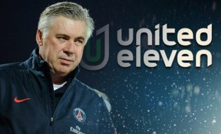 Ancelotti Real Madrid foto-shooting for United Eleven