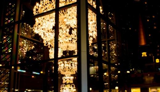 恵比寿ガーデンプレイスにて世界最大のバカラシャンデリアの撮影に行ってきました
