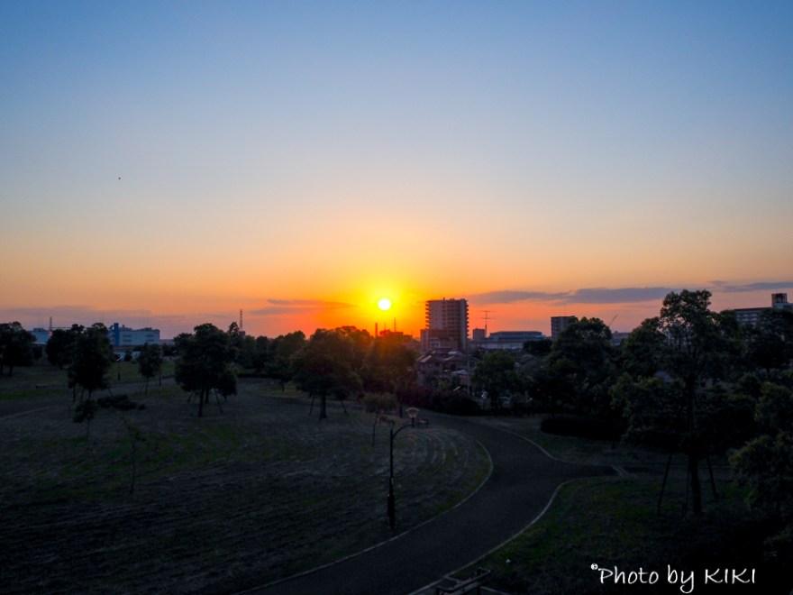 舎人公園夕焼け撮影