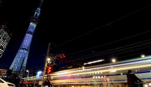 夜の東京スカイツリー人気撮影スポット