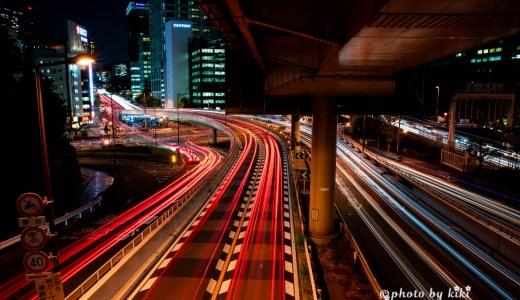赤坂見附歩道橋から撮るレーザービーム