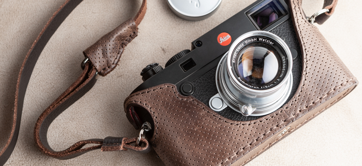 angelo pelle Half Case for Leica M10