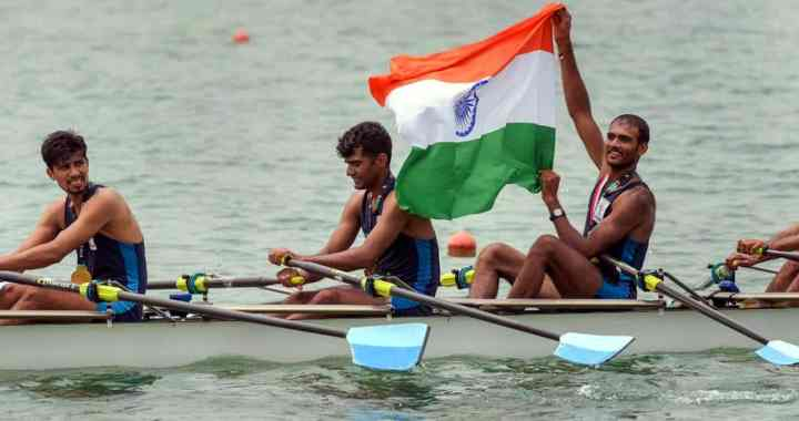 Indian quadruple sculls team won Gold Medal in Asian Games 2018