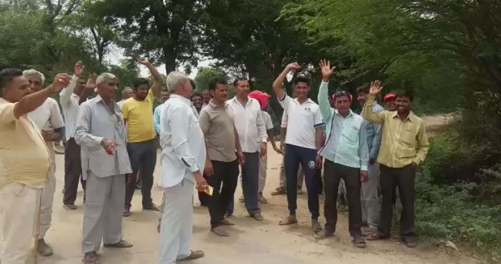 किसानों की जमीन से निकाला जा रहा हाईवे, किया गया विरोध