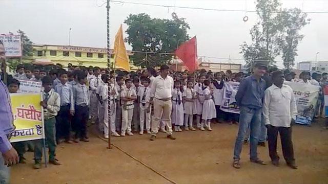 मतदाताओं को जागरूक करने घंसौर में रैली निकाली गई