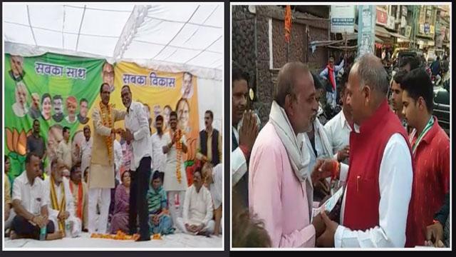 विदिशा भाजपा और कांग्रेस प्रत्याशी का जनसंपर्क निरंतर जारी