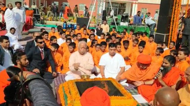RSS प्रमुख मोहन भागवत पहुंचे हरिद्वार के औरंगाबाद