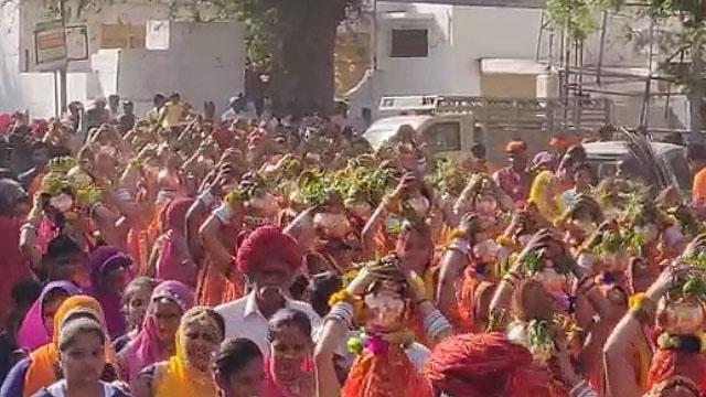 श्री आई माता मंदिर लांबिया में प्राण प्रतिष्ठा महोत्सव का शुभारंभ
