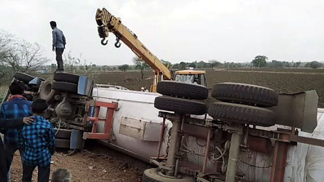 LPG Gas Tanker Accident