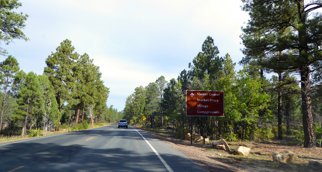 Driving to the Grand Canyon Visitor's Center