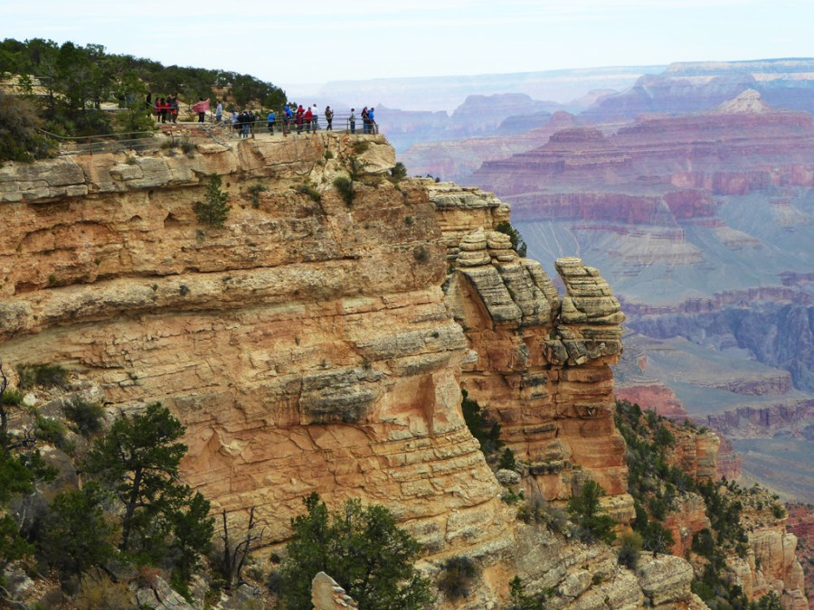 A view of Mather Point at the Grand Canyon