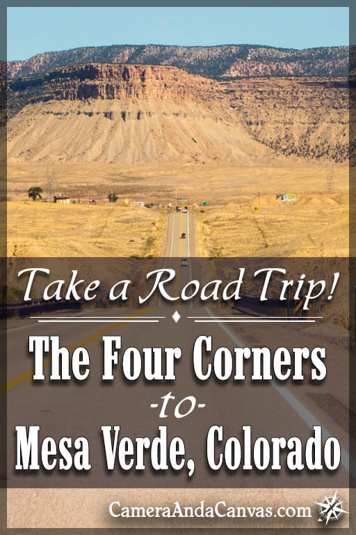 National Geographic - Four Corners Region - Folding Travel ... |Four Corners National Park Map