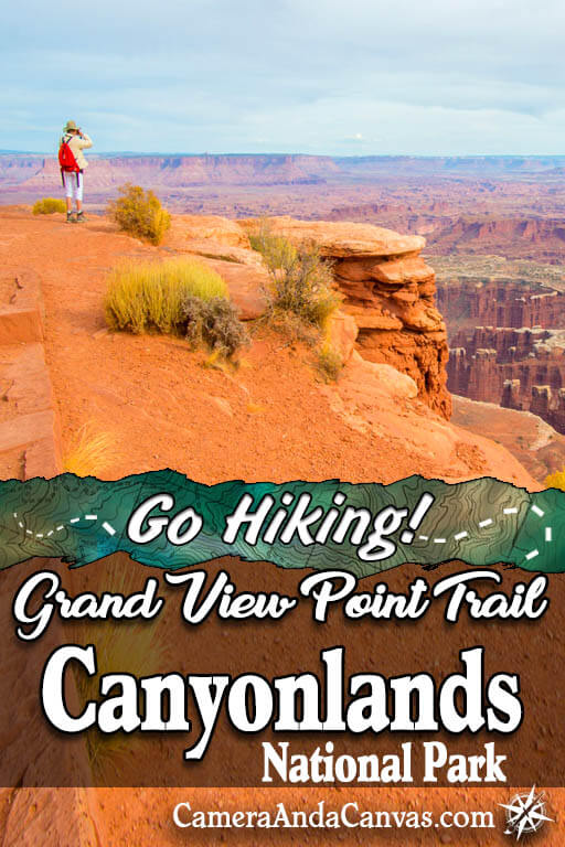 grand view point trail in canyonlands national park